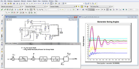 CYME Power Engineering Software - Transient Stability Analysis